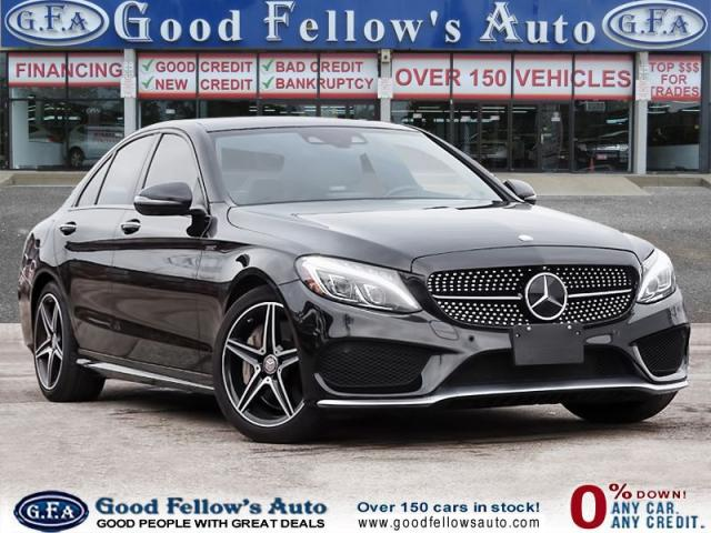 2016 Mercedes-Benz C450 AMG Pkg, PANORAMIC ROOF, LEATHER & SUEDE SEATING