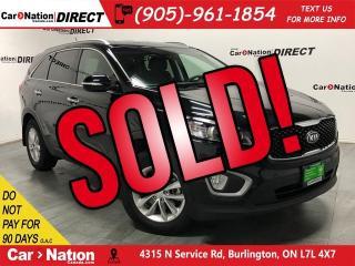 Used 2018 Kia Sorento 2.4L LX| AWD| BACK UP CAM| HEATED SEATS| for sale in Burlington, ON