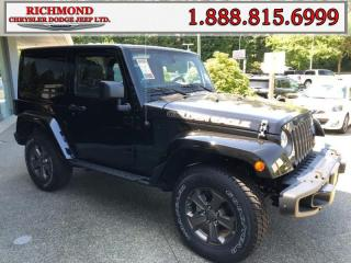 Used 2018 Jeep Wrangler JK Sport for sale in Richmond, BC
