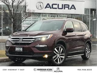 Used 2016 Honda Pilot Touring 9AT AWD Navi, Backup Cam, Pano Roof, Heated Steering Wheel for sale in Markham, ON