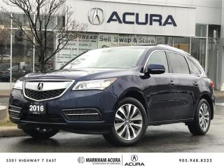Used 2016 Acura MDX Navi SH-AWD, Backup Cam, Pwr Trunk, Tow Pkg for sale in Markham, ON