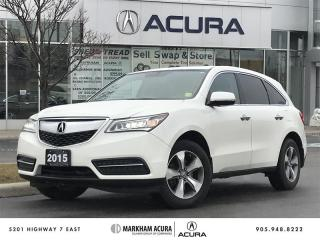 Used 2015 Acura MDX at - SH-AWD, Backup Cam, Heated Steering Wheel for sale in Markham, ON