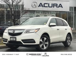 Used 2016 Acura MDX at SH-AWD, Backup Cam, Pwr Trunk for sale in Markham, ON