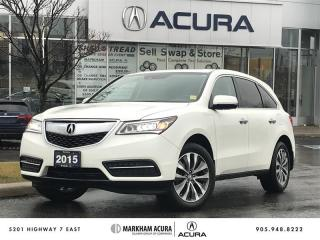 Used 2015 Acura MDX Tech at SH-AWD, Navi, DVD, Backup Cam for sale in Markham, ON