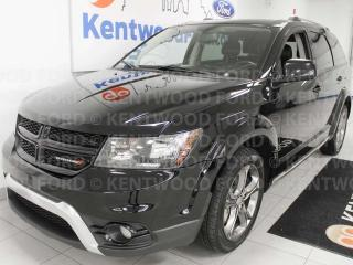 Used 2016 Dodge Journey Crossroad AWD, NAV, heated power leather seats, heated steering wheel, rear climate control, DVD entertainment system for sale in Edmonton, AB