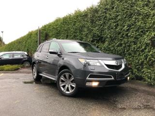 Used 2013 Acura MDX 7 PASSENGER + LEATHER HEATED/VENT FT + DVD + NAV + SUNROOF + BACK-UP CAMERA for sale in Surrey, BC