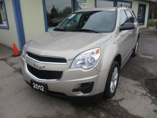 Used 2012 Chevrolet Equinox GREAT VALUE LS MODEL 5 PASSENGER 2.4L - ECO-TEC.. ECON-BOOST.. FLEX FUEL.. CD/AUX INPUT.. KEYLESS ENTRY.. for sale in Bradford, ON
