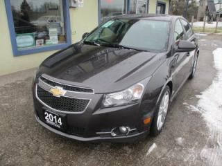 Used 2014 Chevrolet Cruze LOADED 2-LT MODEL 5 PASSENGER 1.4L - TURBO.. LEATHER.. HEATED SEATS.. NAVIGATION.. SUNROOF.. BACK-UP CAMERA.. for sale in Bradford, ON