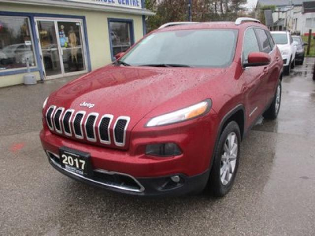 2017 Jeep Cherokee LOADED LIMITED EDITION 5 PASSENGER 3.2L - V6.. 4X4.. LEATHER.. HEATED/AC SEATS.. PANORAMIC SUNROOF.. BACK-UP CAMERA.. BLUETOOTH SYSTEM..