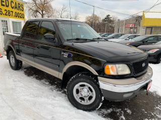 Used 2002 Ford F-150 LARIAT/ 4x4/ LEATHER/ SUNROOF/ ALLOYS! for sale in Scarborough, ON