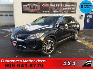 Used 2016 Lincoln MKX Reserve  RESERVE/TECH-PKG ADAP-CC LD CW NAV CS ROOF RAIN-SENS P/ for sale in St. Catharines, ON