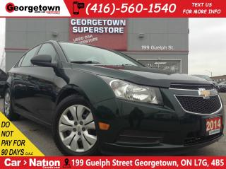 Used 2014 Chevrolet Cruze 2LS | CLEAN CARPROOF |POWER OPTIONS for sale in Georgetown, ON