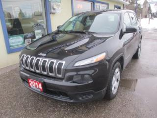 Used 2014 Jeep Cherokee GAS SAVING SPORT EDITION 5 PASSENGER 2.4L - DOHC.. TOUCH SCREEN.. BLUETOOTH SYSTEM.. AUX/USB INPUT.. for sale in Bradford, ON