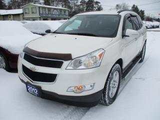 Used 2012 Chevrolet Traverse FAMILY MOVING 2-LT MODEL 8 PASSENGER 3.6L - V6.. BENCH & 3RD ROW.. HEATED SEATS.. REAR CLIMATE CONTROLS.. BACK-UP CAMERA.. for sale in Bradford, ON