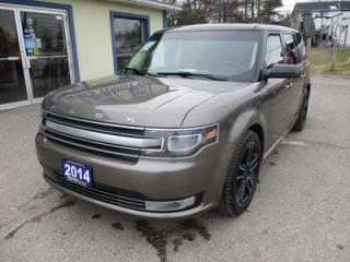 Used 2014 Ford Flex ALL-WHEEL DRIVE LIMITED EDITION 6 PASSENGER 3.5L - V6.. CAPTAINS.. 3RD ROW.. LEATHER.. HEATED SEATS.. SONY AUDIO.. SUNROOF.. BACK-UP CAMERA.. for sale in Bradford, ON