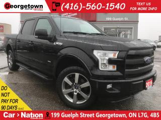 Used 2016 Ford F-150 Lariat FX4 CREW   PANO ROOF   LTHR   NAVI  B/U CAM for sale in Georgetown, ON