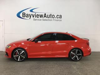 Used 2018 Audi RS 3 2.5T - AWD! NAV! HTD LTHR! OLUFSEN SOUND! for sale in Belleville, ON