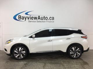 Used 2017 Nissan Murano Platinum - AWD! HTD FRONT & REAR LTHR! PANOROOF! REMOTE START! REVERSE CAM! BLUETOOTH! BOSE SOUND! for sale in Belleville, ON
