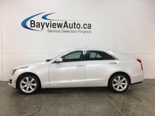 Used 2015 Cadillac ATS 2.0L Turbo - AWD! ONSTAR! BLUETOOTH! REVERSE CAM! BOSE SOUND! PUSH START! HTD LTHR! ALLOYS! for sale in Belleville, ON