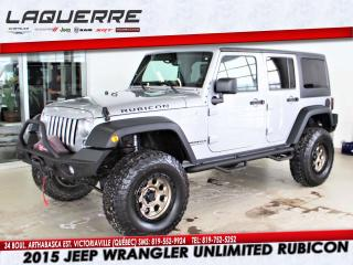 Used 2015 Jeep Wrangler RUBICON*LIFT 3.5*CUIR*2 TOIT* for sale in Victoriaville, QC