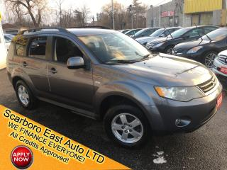 Used 2009 Mitsubishi Outlander ES/ AUTO/ 4WD/ BLUETOOTH/ POWER GROUP/ ALLOYS! for sale in Scarborough, ON