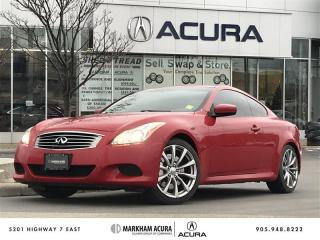 Used 2008 Infiniti G37 Coupe Premium S -Tints, Pwr Mem Seats, Heated Lthr Seats for sale in Markham, ON