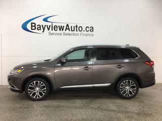 Used 2017 Mitsubishi Outlander GT - 7 PASS! SUNROOF! PUSH START! HTD LTHR! PADDLE SHIFTERS! for sale in Belleville, ON
