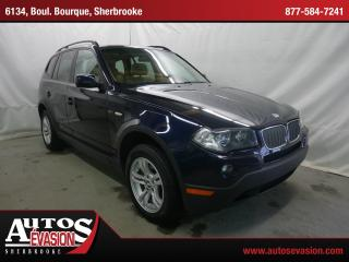 Used 2008 BMW X3 3.0i Xdrive + Toit Pano for sale in Sherbrooke, QC