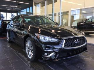 Used 2018 Infiniti Q50 3.0t LUXE W/ PROACTIVE PACKAGE for sale in Edmonton, AB