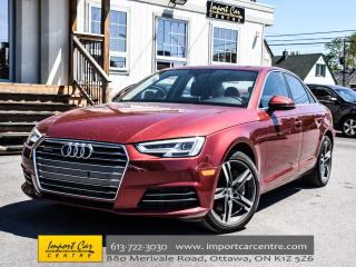 Used 2017 Audi A4 2.0 Tfsi Quattro Technik NAV H.STEER BK.CAM SIDE ASSIST WOW!! for sale in Ottawa, ON