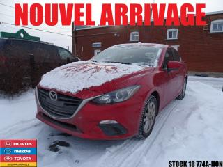 Used 2015 Mazda MAZDA3 Sport Gs+cruise+a/c+caméra for sale in Drummondville, QC
