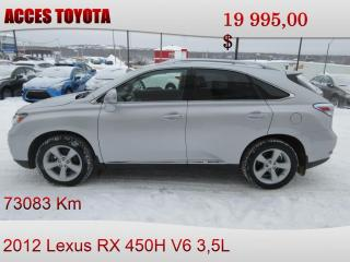 Used 2012 Lexus RX 450h for sale in Rouyn-Noranda, QC