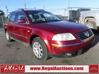 Used 2003 Volkswagen Passat GLS 4D WAGON for sale in Calgary, AB