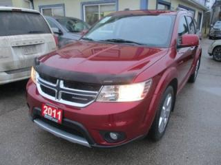 Used 2011 Dodge Journey LOADED R/T MODEL 7 PASSENGER 3.6L - V6.. AWD.. BENCH & 3RD ROW.. LEATHER.. NAVIGATION.. SUNROOF.. BLUETOOTH.. for sale in Bradford, ON