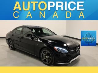 Used 2016 Mercedes-Benz C-Class AMG REAR CAM PANOROOF LEATHER for sale in Mississauga, ON