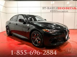 Used 2017 Alfa Romeo Giulia QUADRIFOGLIO + HARMAN/KARDON + WOW !!! for sale in St-Basile-le-Grand, QC