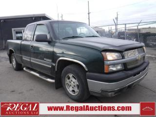 Used 2004 Chevrolet Silverado 1500 4D EXT CAB 2WD for sale in Calgary, AB