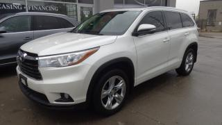 Used 2015 Toyota Highlander Limited Navigation rear camera 7pass for sale in Etobicoke, ON