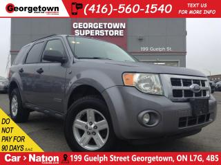 Used 2008 Ford Escape Base | YOU CERTIFY YOU SAVE SPECIAL | for sale in Georgetown, ON