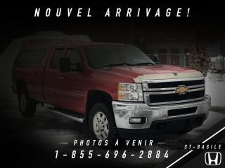 Used 2012 Chevrolet Silverado 3500 3500 DIESEL + CREW + BOITE 8 PIED + CUIR for sale in St-Basile-le-Grand, QC