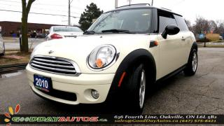 Used 2010 MINI Cooper LOW KM|NO ACCIDENT|LEATHER|SUNROOF|ALLOYS|BT for sale in Oakville, ON
