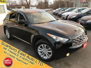 Used 2011 Infiniti FX35 LUXURY/ LEATHER/ SUNROOF/ REVERSE CAM/ ALLOYS! for sale in Scarborough, ON