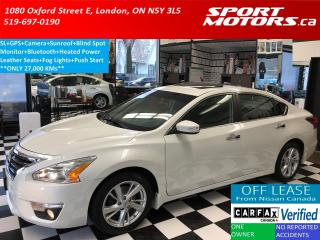 Used 2014 Nissan Altima 2.5 SL+Heated Leather+GPS+Camera+Sunroof+RMT Start for sale in London, ON