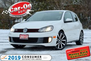 Used 2012 Volkswagen GTI 3-Door 200 HP 6 SPEED LEATHER SUNROOF HTD SEATS for sale in Ottawa, ON