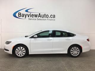 Used 2016 Chrysler 200 LX - PUSH START! U-CONNECT! A/C! CRUISE! PWR GROUP! for sale in Belleville, ON