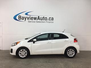 Used 2016 Kia Rio LX - 6SPD! CRUISE! PWR GROUP! for sale in Belleville, ON