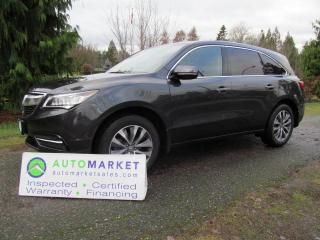 Used 2015 Acura MDX NAVI, DVD, TECH, FREE BCAA MBSHP, WARR, FINANCE for sale in Surrey, BC