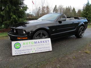 Used 2007 Ford Mustang GT CONV, INSP, FREE BCAA MBSHP, FREE WARRANTY, FINANCING for sale in Surrey, BC