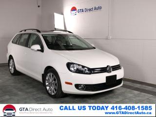 Used 2013 Volkswagen Golf Wagon Highline 6-Speed Panoroof Leather Heated Certified for sale in Toronto, ON