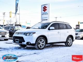 Used 2015 Mitsubishi Outlander ES AWD ~Heated Leather ~Power Moonroof ~Backup Cam for sale in Barrie, ON